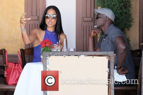 Kimora Lee Simmons and Djimon Hounsou 16