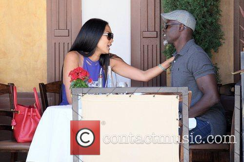 Kimora Lee Simmons and Djimon Hounsou 17
