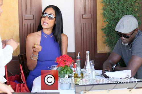 Kimora Lee Simmons and Djimon Hounsou 11
