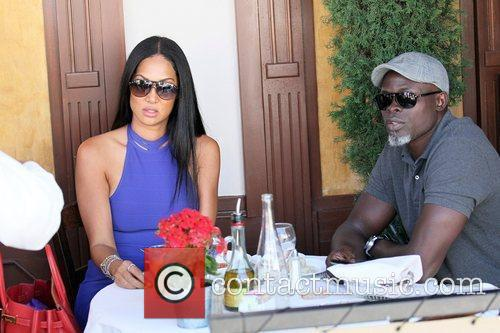 Kimora Lee Simmons and Djimon Hounsou 8
