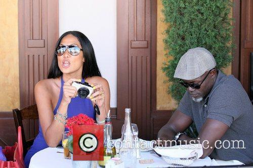 Kimora Lee Simmons and Djimon Hounsou 7