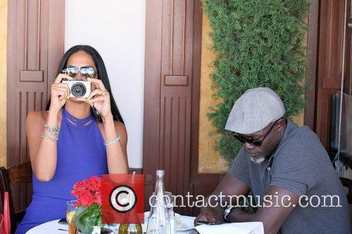 Kimora Lee Simmons and Djimon Hounsou 27