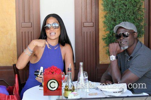 Kimora Lee Simmons and Djimon Hounsou 2