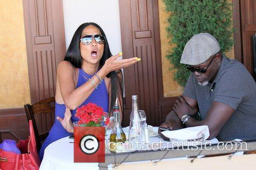 Kimora Lee Simmons and Djimon Hounsou 28