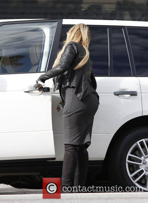 Kirstie Alley  heading back to her car...