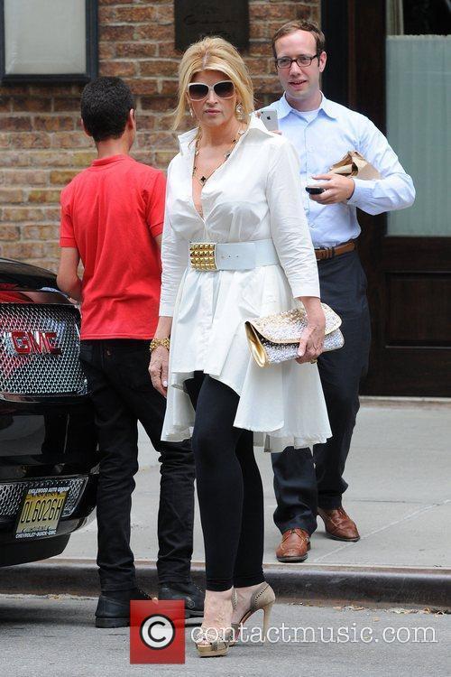 Kirstie Alley leaving her Manhattan Hotel.