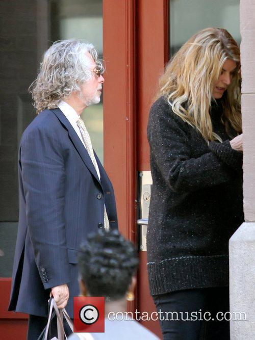 Kirstie Alley outside a residence in Manhattan New...