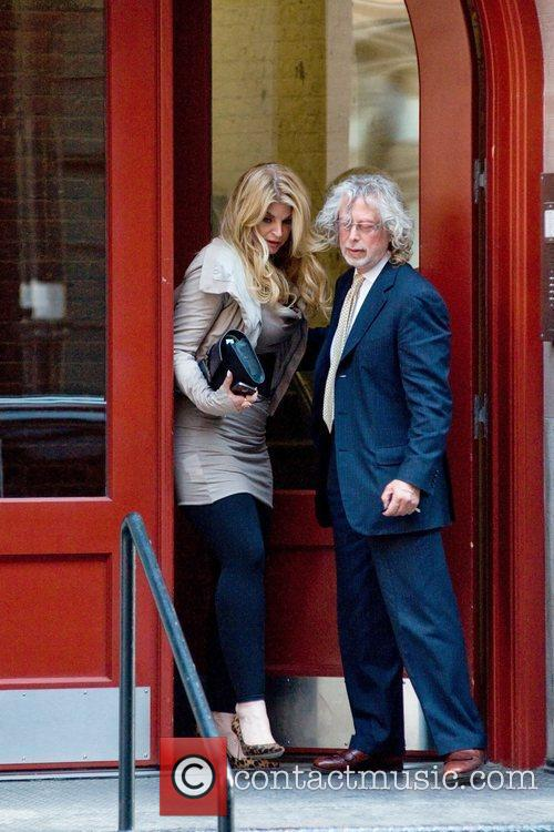 Kirstie Alley leaves a private residence in Manhattan...