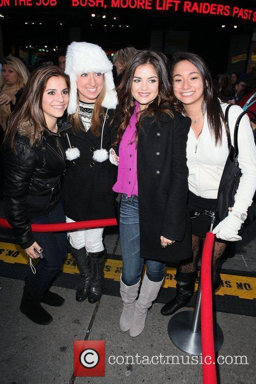 Lucy Hale and Times Square 3