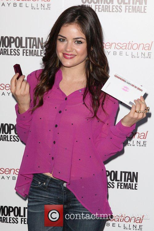 Lucy Hale and Times Square 11