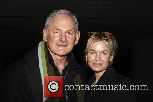 Victor Garber and Renee Zellweger Backstage at The...