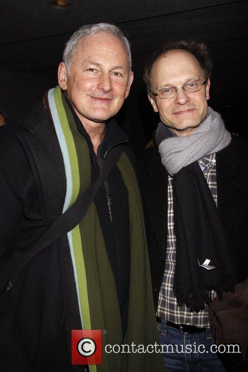 Victor Garber and David Hyde Pierce Backstage at...