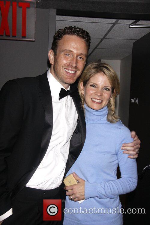 Ben Davis and Kelli O'Hara Backstage at The...