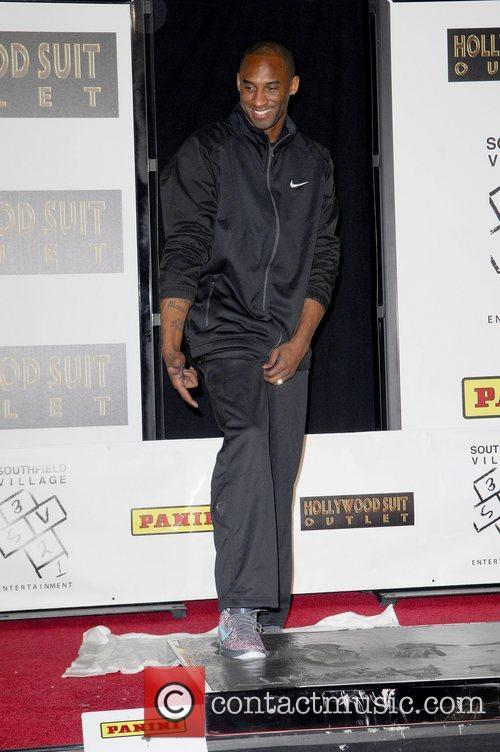 Los Angeles Lakers star, Kobe Bryant, attends a...