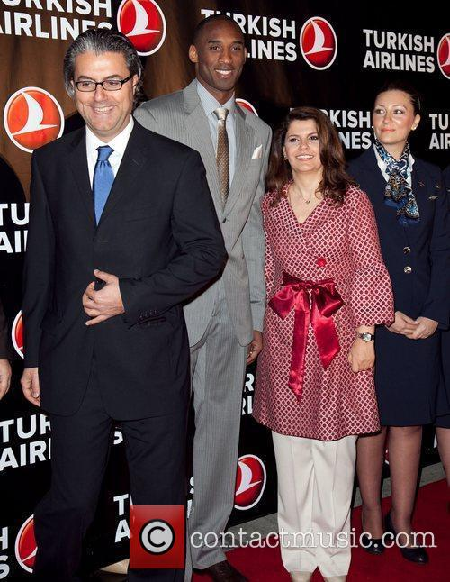 Kobe Bryant and Turkish Airlines Red Carpet Celebration...
