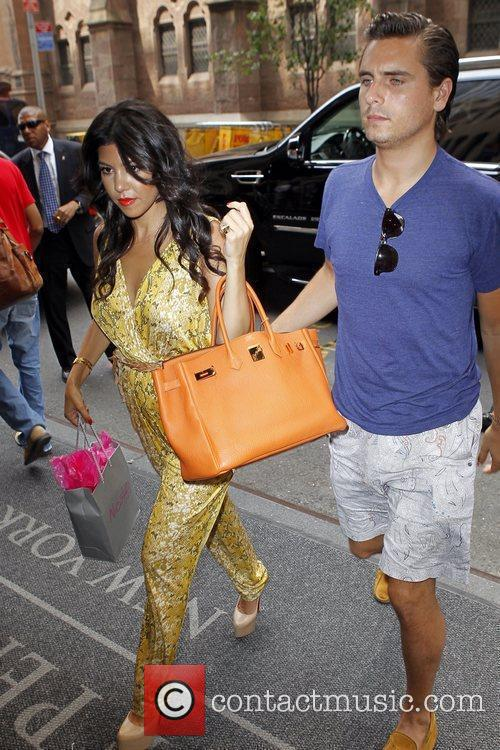 Kourtney Kardashian and Scott Disick out and about...
