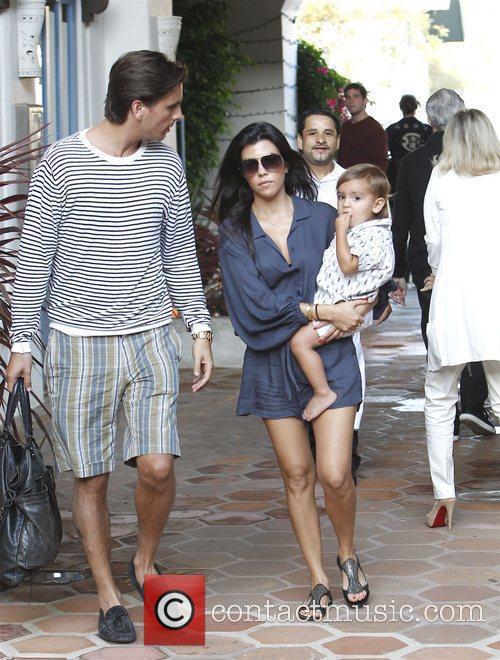 Kourtney Kardashian, Scott Disick and their son Mason...