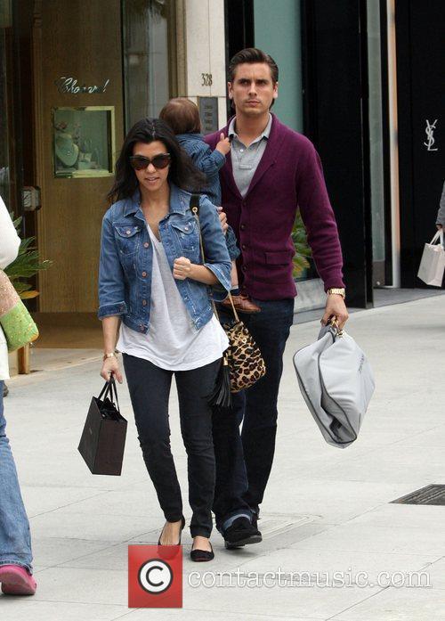 Kourtney Kardashian runs errands on Rodeo Drive with...