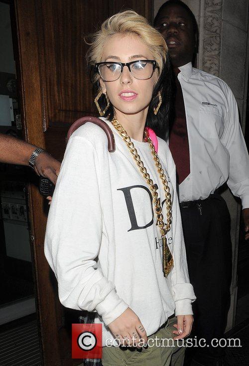 American rapper Kreayshawn aka Natassia Gail Zolot leaving...