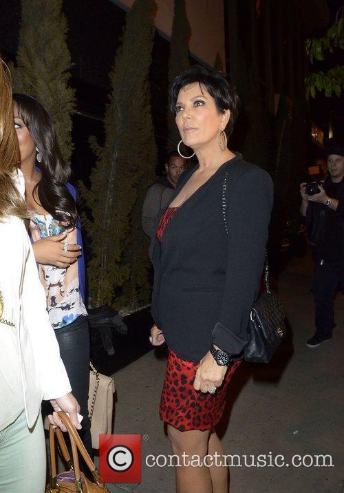 Kris Kardashian leaving Trousdale nightclub Los Angeles, California