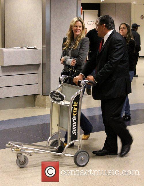 True Blood star Kristin Bauer leaving LAX Airport