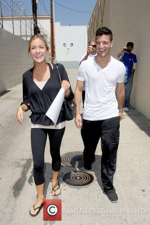Kristin Cavallari and Mark Ballas in good spirits...