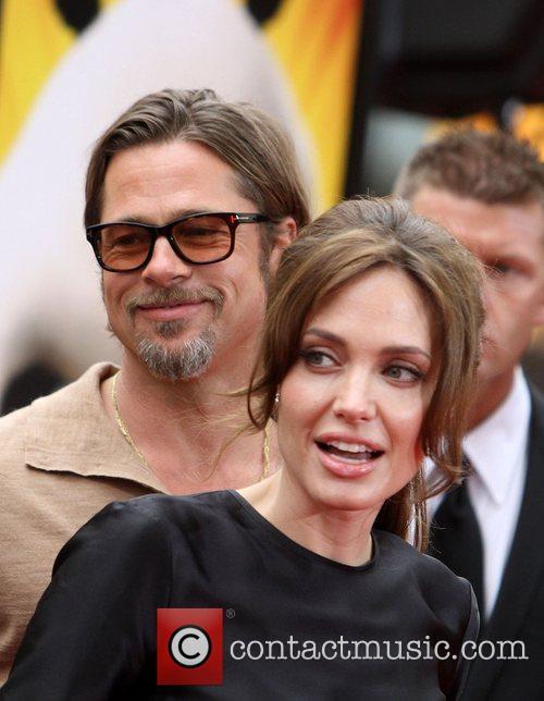 Angelina Jolie, Brad Pitt Los Angeles premiere of...