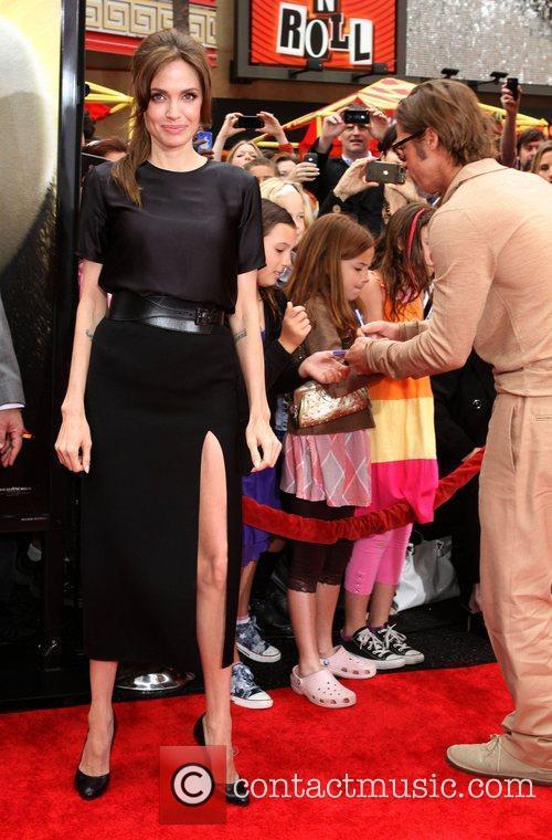 Angelina Jolie Los Angeles premiere of 'Kung Fu...