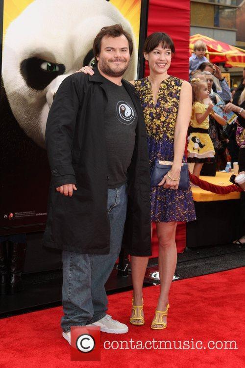 Jack Black and his wife Tanya Haden...