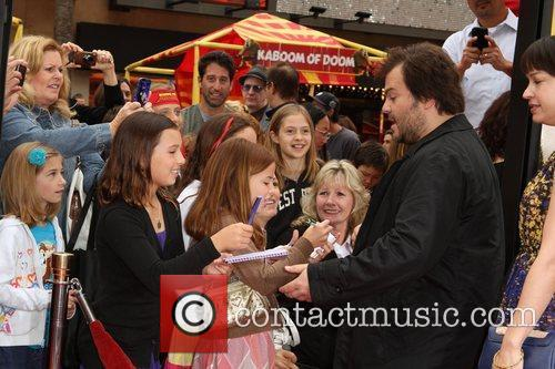 Jack Black Los Angeles premiere of 'Kung Fu...