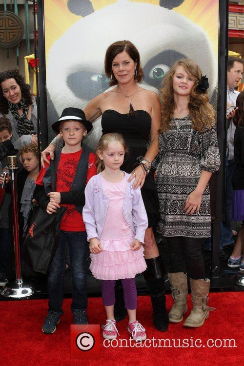 Marcia Gay Harden and Family Los Angeles premiere...