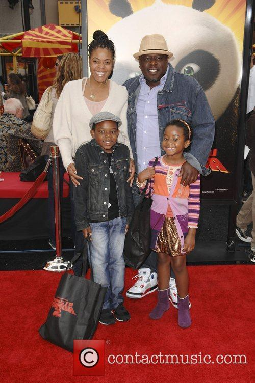 Cedric The Entertainer, family  Los Angeles premiere...