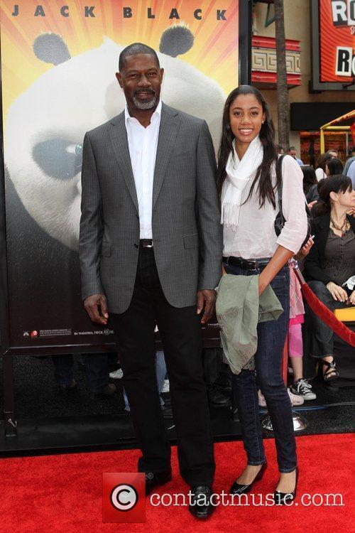 Dennis Haysbert and his daughter Los Angeles premiere...
