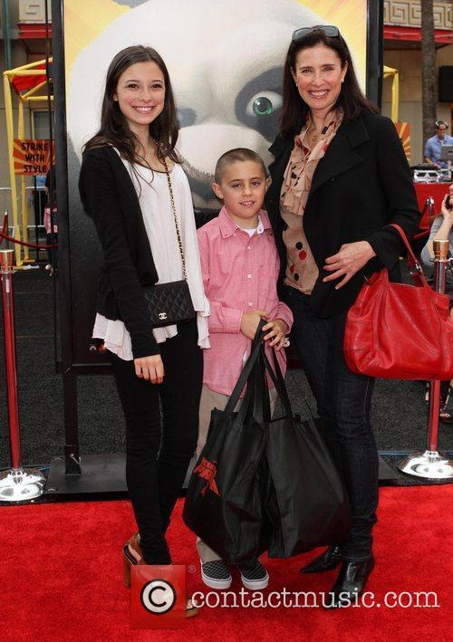 Mimi Rogers and family Los Angeles premiere of...