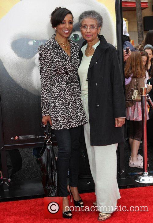 Shaun Robinson and her Mother Los Angeles premiere...