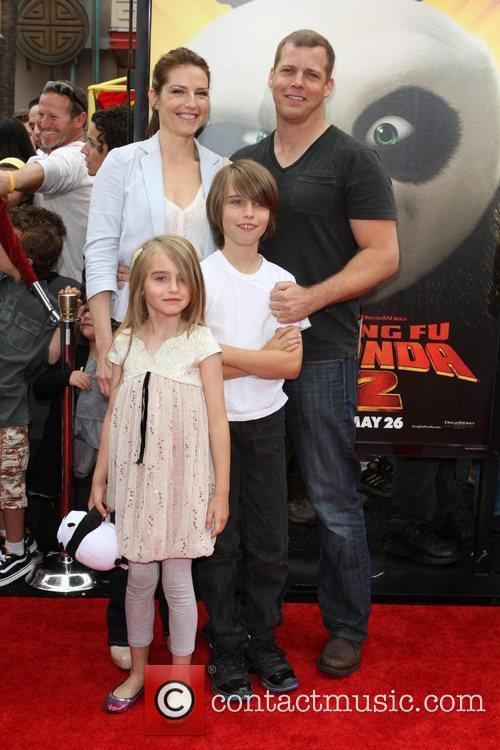 Tim Griffin and family Los Angeles premiere of...