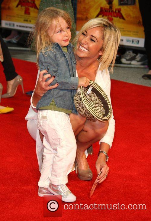 Jenny Frost with her son Caspar Kung Fu...