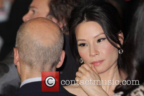 Lucy Liu and Jeffrey Katzenberg The Australian premiere...