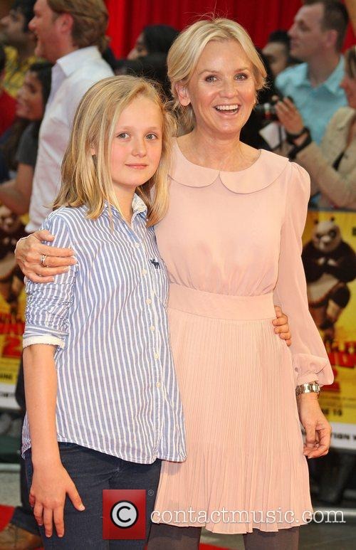 Lisa Maxwell with her daughter Kung Fu Panda...