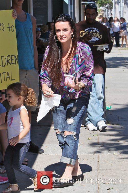 Kyle Richards and her daughter Portia are seen...