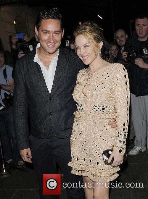 Kylie Minogue and her boyfriend Andres Velencoso arrive...