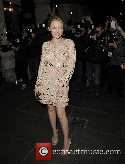 Kylie Minogue arrives at The Garrick Theatre for...