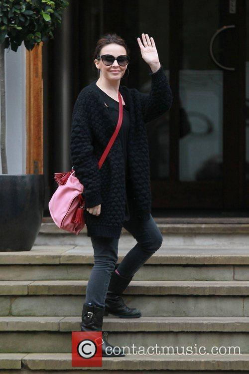 Kylie Minogue  arriving at Abbey Road studios...