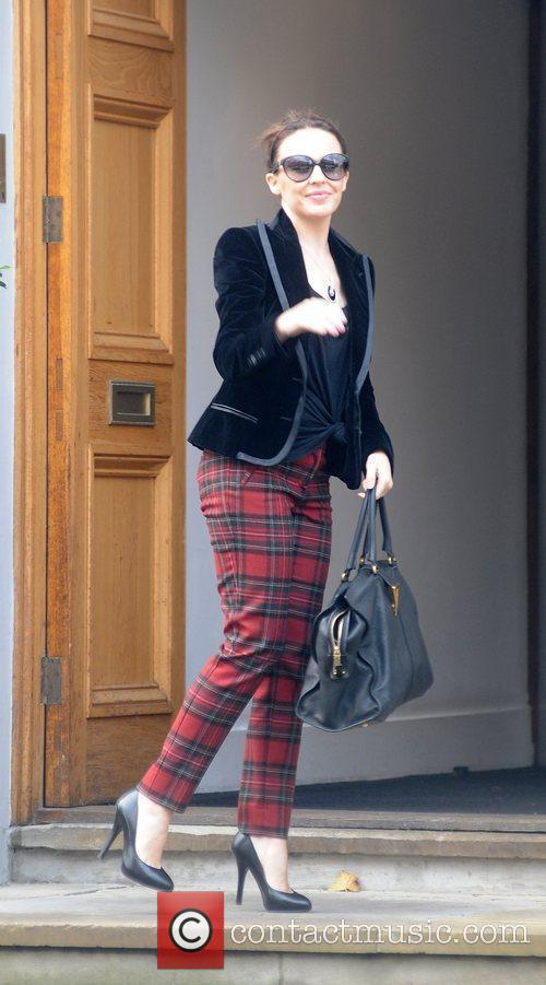 Kylie Minogue arriving at Abbey Road studios London,...
