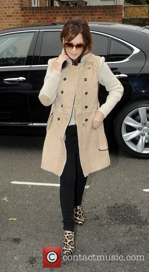 Kylie Minogue  arriving at her management offices...