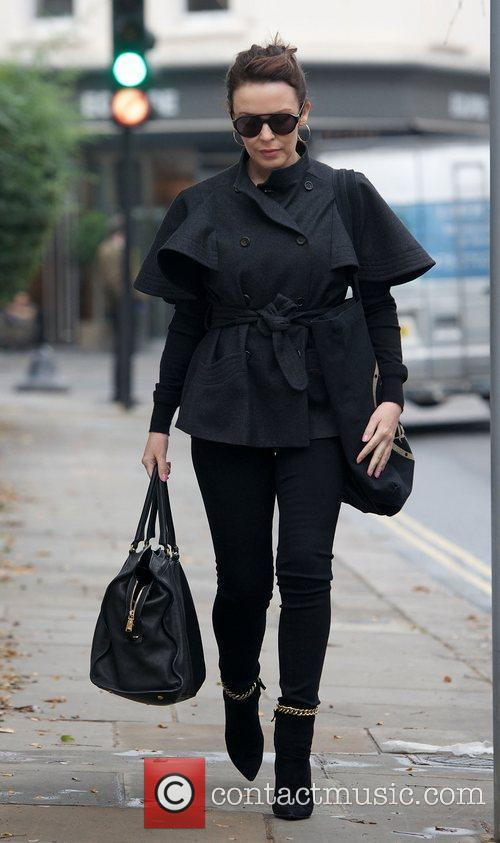 Kylie Minogue  leaving her house London, England