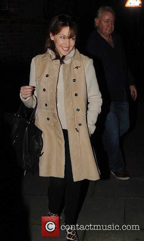 Kylie Minogue  leaving her management offices London,...