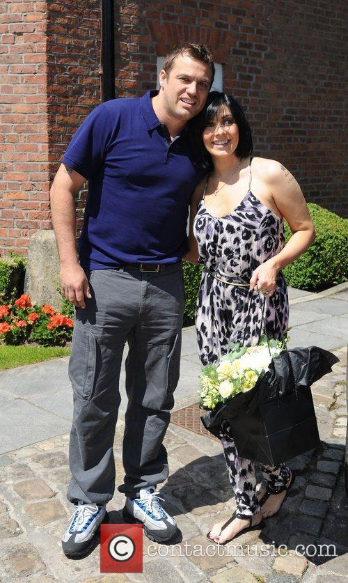 Kym Marsh and Jamies Lomas launch the Worsley...