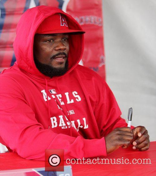 Fernando Rodney  attends the Los Angeles Angels...