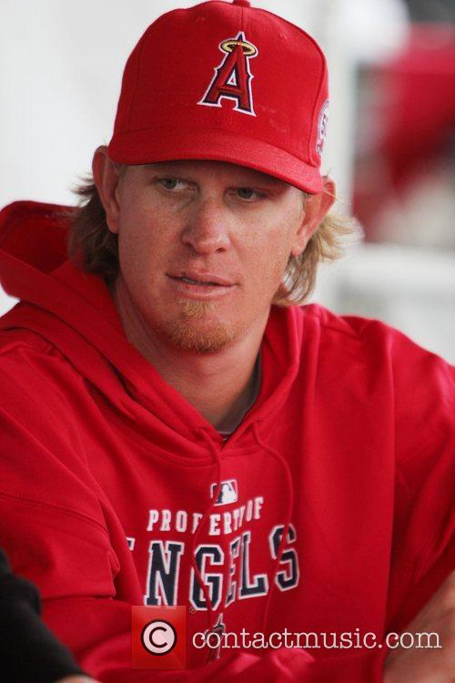 Jered Weaver  attends the Los Angeles Angels...
